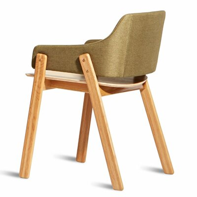 Clutch Upholstered Dining Chair Leg Color: White Oak, Upholstery Color: Olive