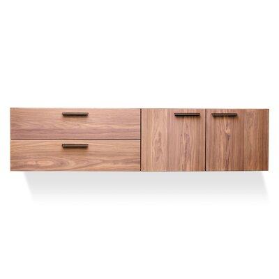 Shale  2 Door/2 Drawer Cabinet Color: Light Walnut