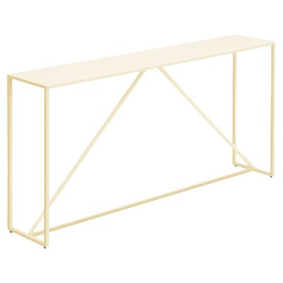 Strut Console Table Finish: Ivory