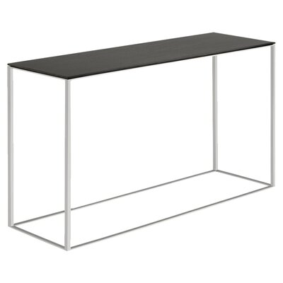 Minimalista Console Table Finish: Graphite on Oak