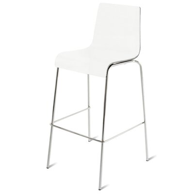 30.4 Bar Stool Wood: White