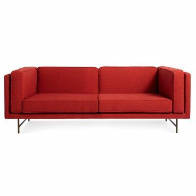 Bank Sofa Upholstery: Brick, Frame Finish: Brass