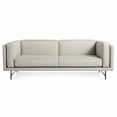Bank Sofa Frame Finish: Metal, Upholstery: Linen