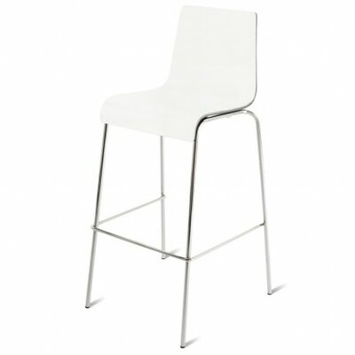24.5 Bar Stool Wood: White