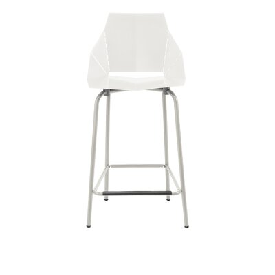 Real Good 25 inch Bar Stool Finish: White / Grey