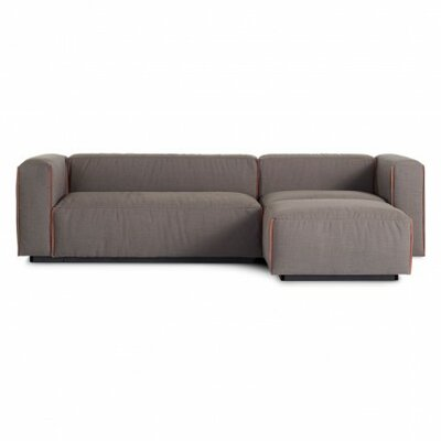 Cleon Small Reversible Sectional Upholstery: Craig Sand