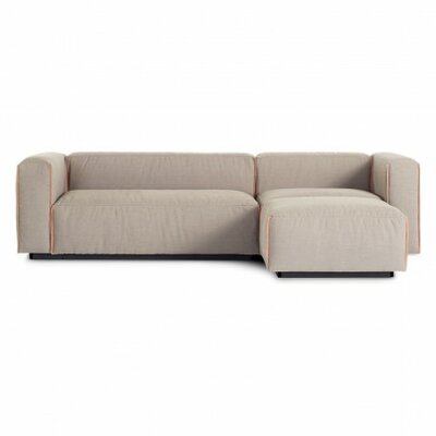 Cleon Small Reversible Chaise Sectional Upholstery: Cement