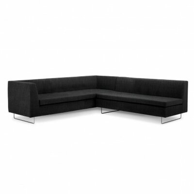 Bonnie and Clyde Symmetrical Sectional Upholstery: Coal