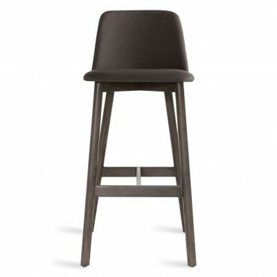 Chip 31.5 Bar Stool Upholstery: Bright Green, Leg Finish: Walnut