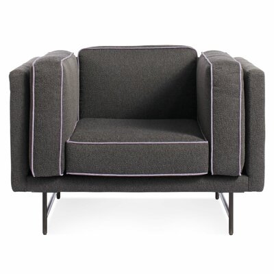 Bank Armchair Finish: Metal, Color: Lava Lavendar