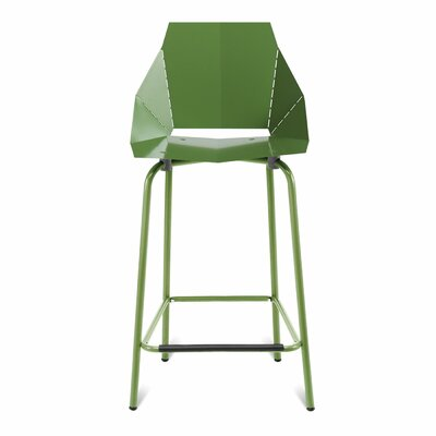 Real Good 30.5 Bar Stool Upholstery: Green