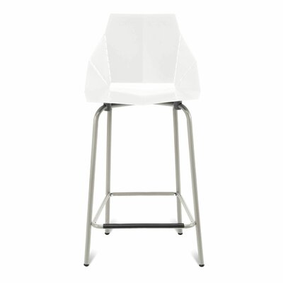 Real Good Counter Stool Body Fabric: White