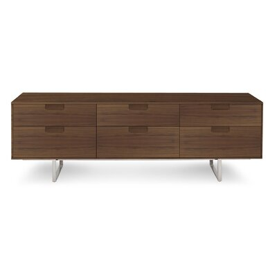 Series 11 84 TV Stand Wood Finish: Walnut