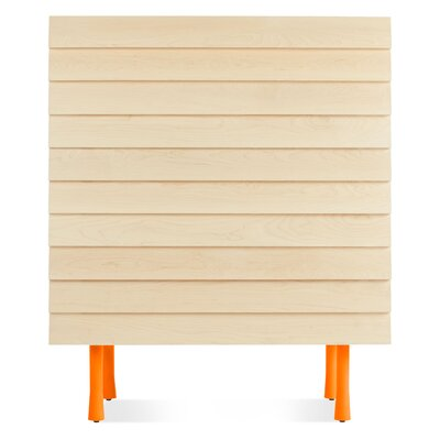 Lap Tall Dresser Color: Orange