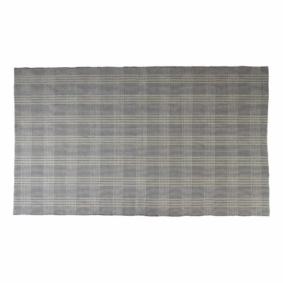 Bravo Grey/Natural Plaid Area Rug Rug Size: 9 x 12