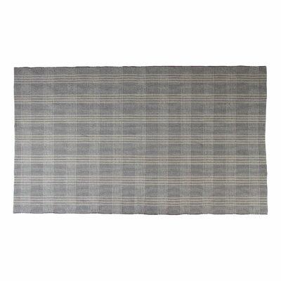 Bravo Grey/Natural Plaid Area Rug Rug Size: 6 x 9