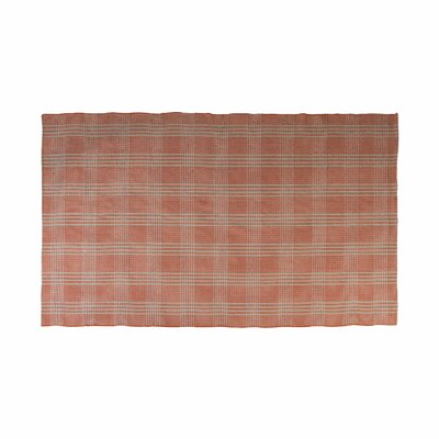 Bravo Hand Woven Cotton Orange Area Rug Rug Size: 6 x 9