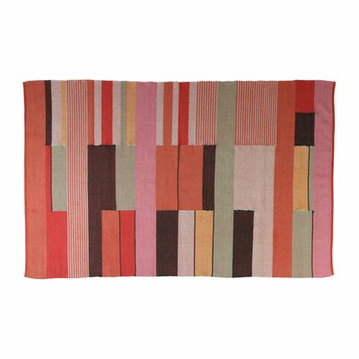 Charlie Hand Woven Cotton Red Area Rug