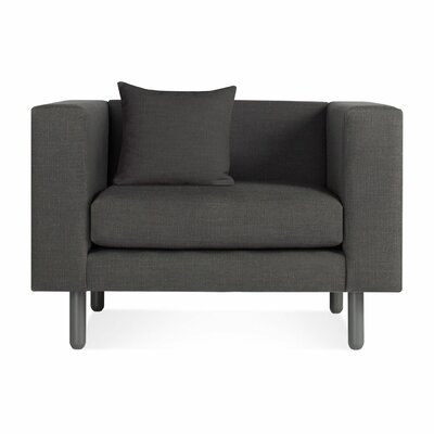Mono Lounge Chair and a half Color: Slate Grey