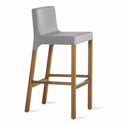 Knicker 31.5 inch Bar Stool Upholstery: Pewter