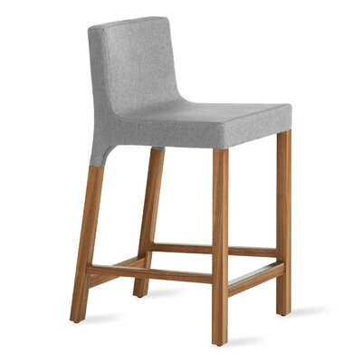 Knicker 25.5 Bar Stool Upholstery: Pewter Fabric