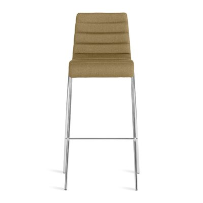 Roy 30.5 inch Bar Stool Upholstery: Olive