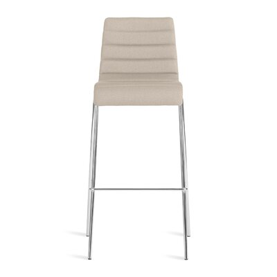 Roy 30.5 inch Bar Stool Upholstery: Taupe