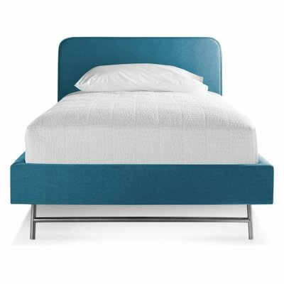Hush Upholstery Platform Bed Upholstery: Aqua, Size: Twin