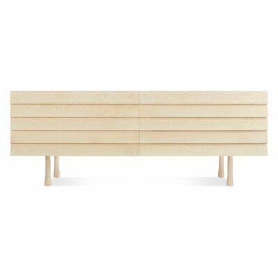 Lap Long And Low 4 Drawer Double Dresser Color: Maple