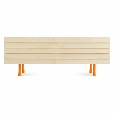 Lap Long And Low 4 Drawer Double Dresser Color: Orange