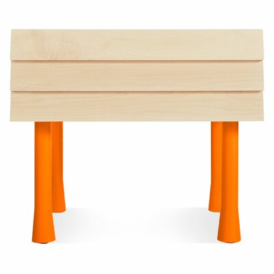 Lap 1 Drawer Nightstand Color: Orange