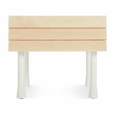 Lap 1 Drawer Nightstand Color: White