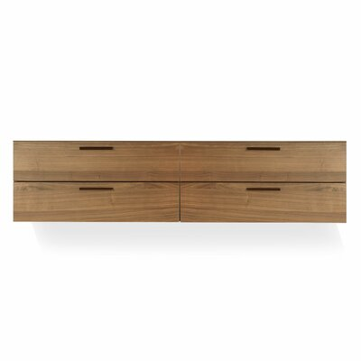 Shale 4 Drawer Double Dresser Color: Dark Walnut