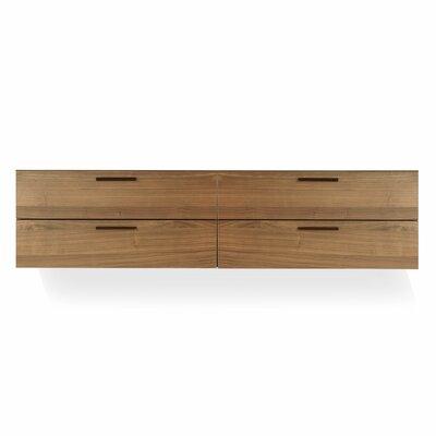 Blu Dot Shale 4 Drawer Wall Mounted Cabinet - Finish: Dark Walnut