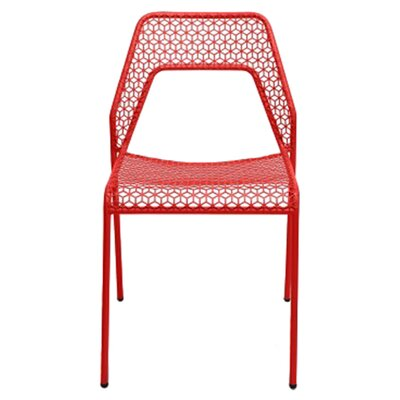 Hot Mesh Side Chair Upholstery: Red