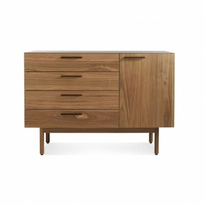 Shale 4 Drawer 1 Door Sideboard Color: Dark Walnut