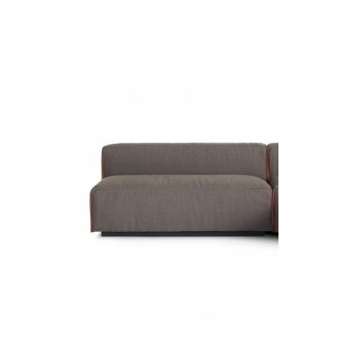 Cleon Two-Seat Unarmed Loveseat Upholstery: Basalt