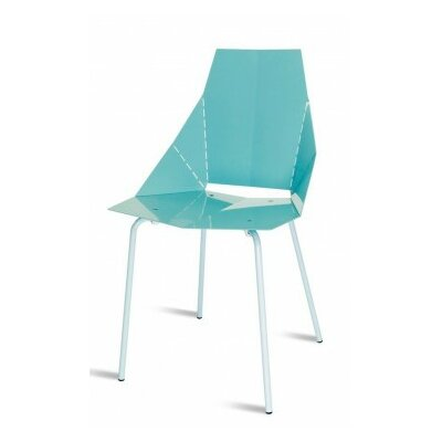 Real Good Side Chair Finish: Aqua / Blue, Upholstery: None