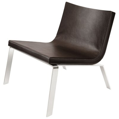 Stella Side Chair Upholstery: Dark Brown Leather