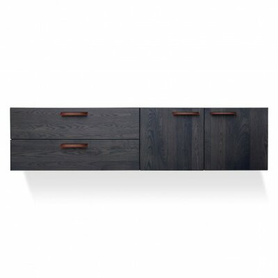 Shale  2 Door/2 Drawer Cabinet Color: Smoke