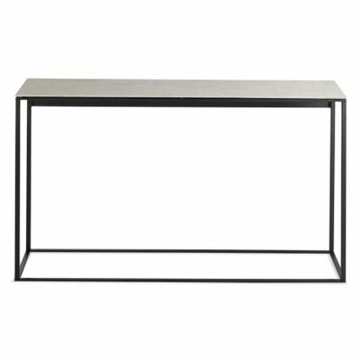 Minimalista Console Table Base Finish: Black, Top Finish: Graphite on Oak