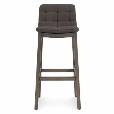 Wicket Smoke 31.7 Bar Stool Body Fabric: Iron