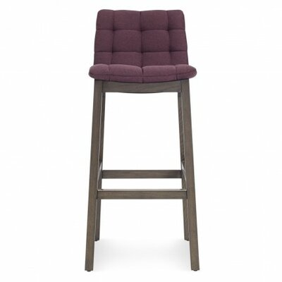 Wicket Smoke 31.7 Bar Stool Upholstery: Purple