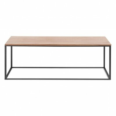 Minimalista Coffee Table Base Color: Black, Top Color: Walnut