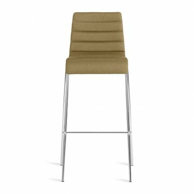 Roy Bar Stool Upholstery: Olive