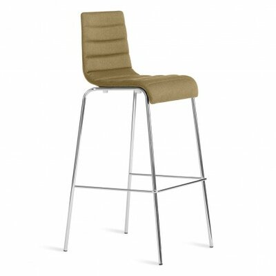 Roy 24.5 Bar Stool Upholstery: Olive