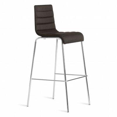 Roy 24.5 Bar Stool Upholstery: Gunmetal