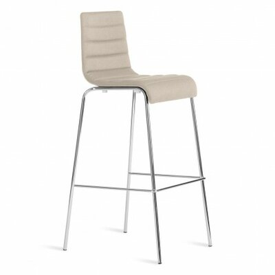 Roy 24.5 Bar Stool Upholstery: Taupe