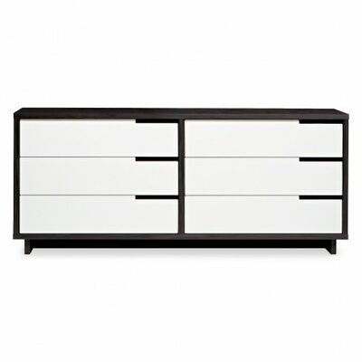 Modu-Licious 6 Drawer Double Dresser Color: Graphite On Oak