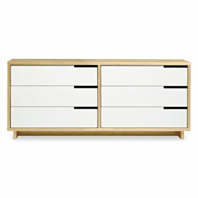 Modu-Licious 6 Drawer Double Dresser Color: Maple